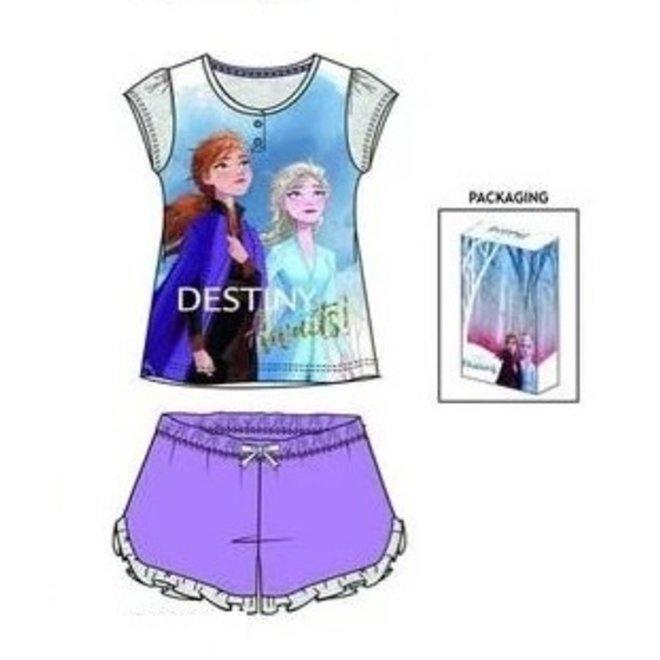 Disney Frozen Shortama / Zomersetje - Paars