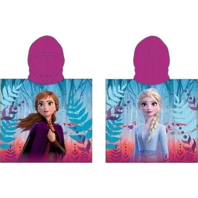 Disney Frozen Badponcho Paars - Anna en Elsa