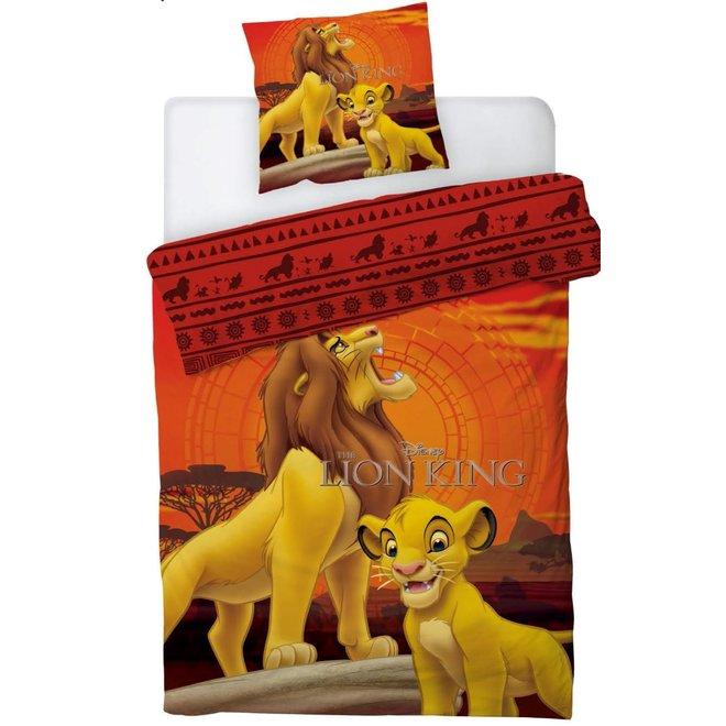 Lion King Dekbedovertrek 140 x 200 cm - Mufasa en Simba