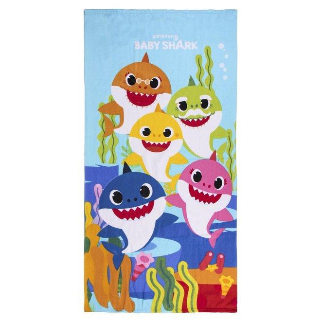 Baby Shark Badlaken / Strandlaken - Sneldrogend
