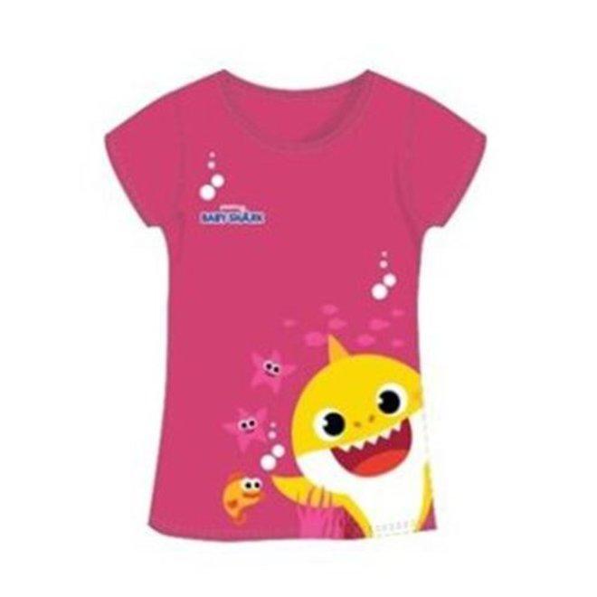Baby Shark T-shirt - Donker Roze