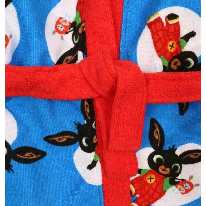 Bing Konijn Badjas - Blauw/Rood