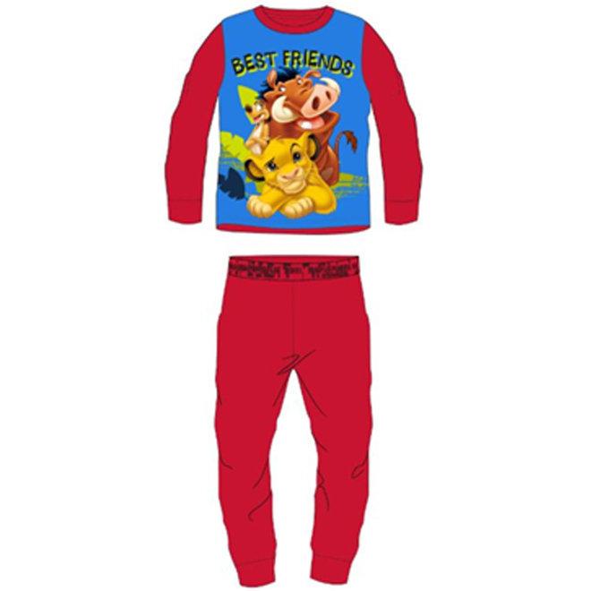 Lion King Fleece Pyjama - Rood