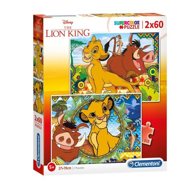 Lion King Puzzel - 2x60 stukjes - Clementoni