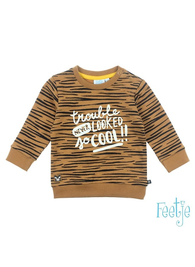 Born to be Wild Sweater Camel