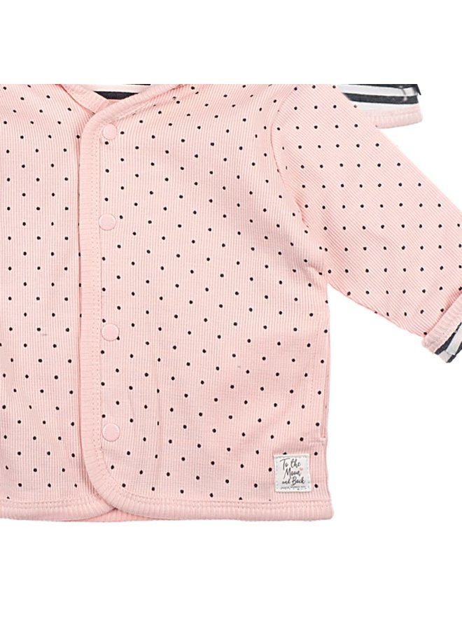 Dots Omkeerbaar Jasje Roze