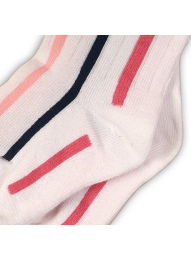 kniekousen White/Pink