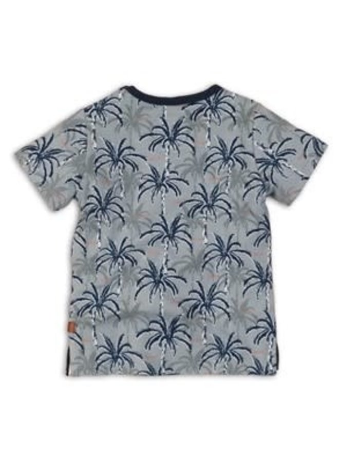 Baby Shirtje Blue AOP