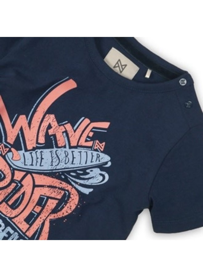 Shirtje Wave Rider Navy