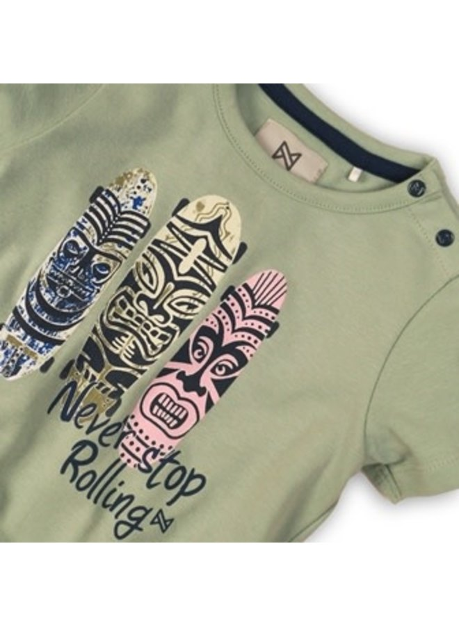 Baby Shirtje Faded Green