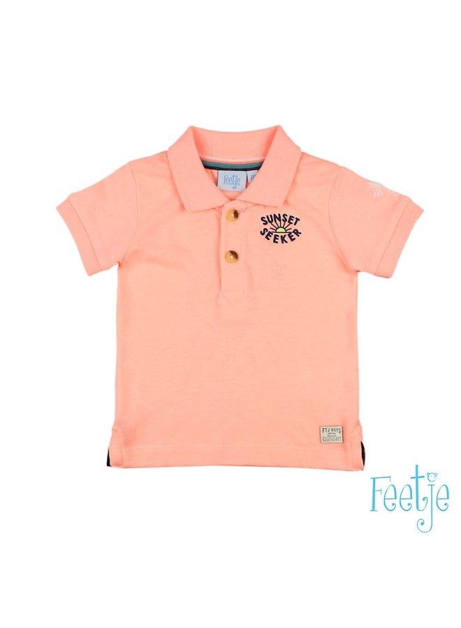 Mini Wanderer Poloshirt Neon Oranje