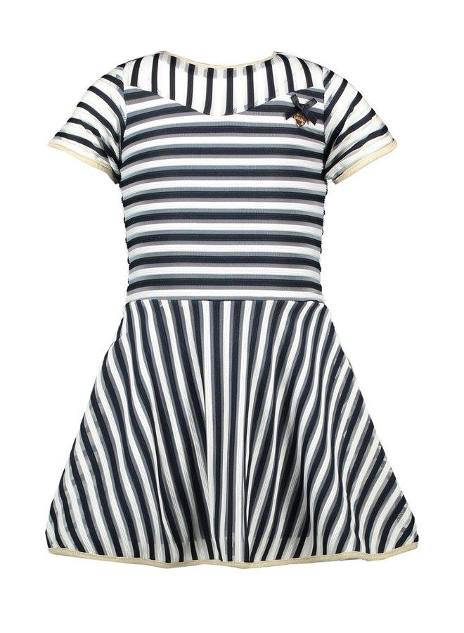 Jurk Navy Stripe