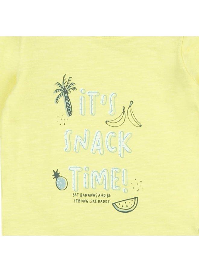 Go Bananas Longsleeve Snack Time Geel