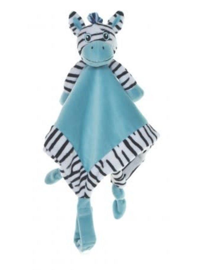Knuffeldoek Zebra Blauw
