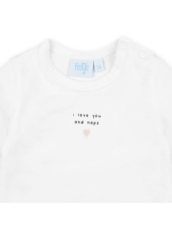 Dots Longsleeve I Love you and naps Wit