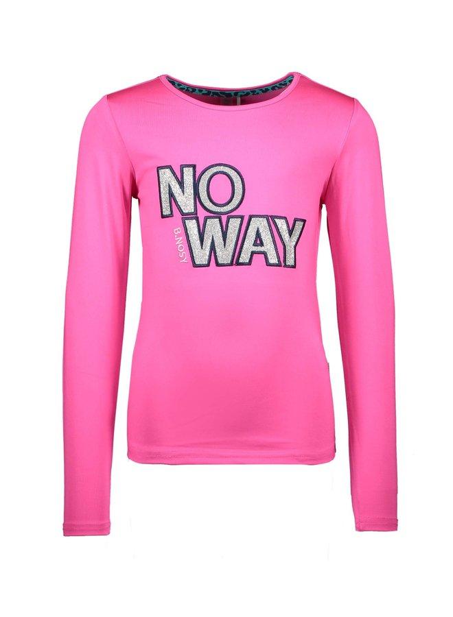 Longsleeve NO WAY Pink Glo
