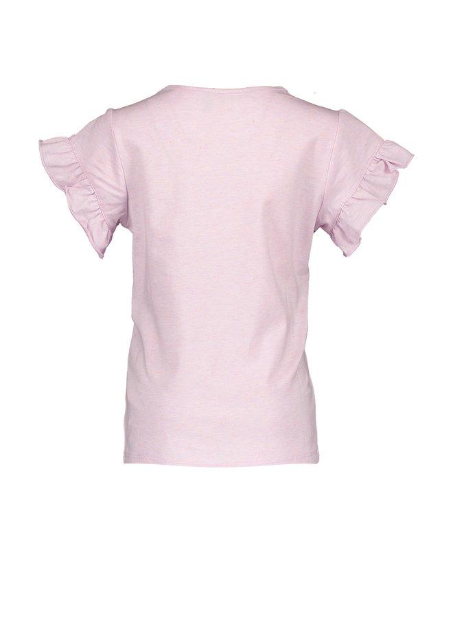 Kalina Shirt with Ruffled Ends Pink Lady