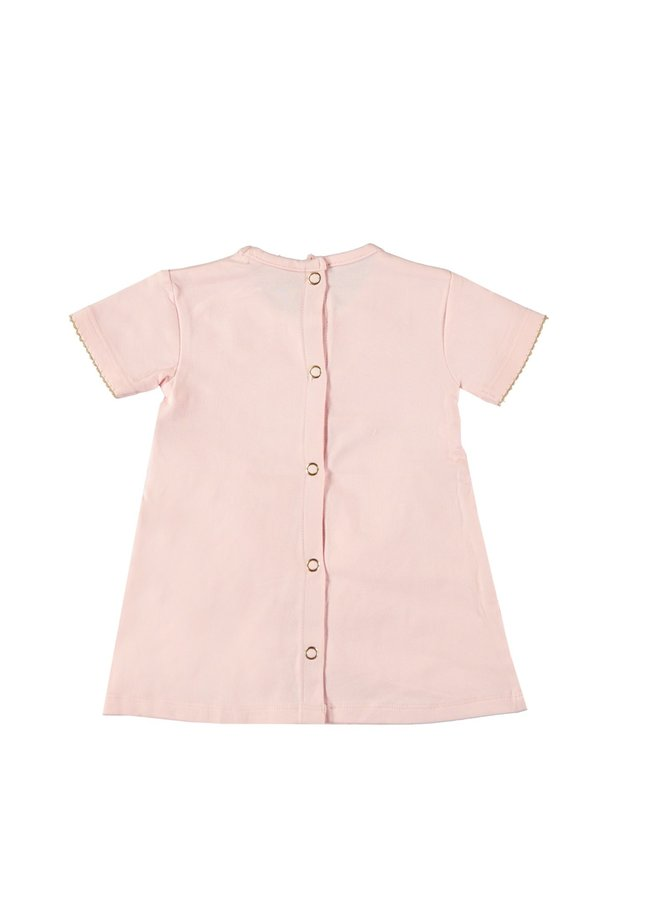 Dress Diagonal Fancy Ruffles Pretty Pink
