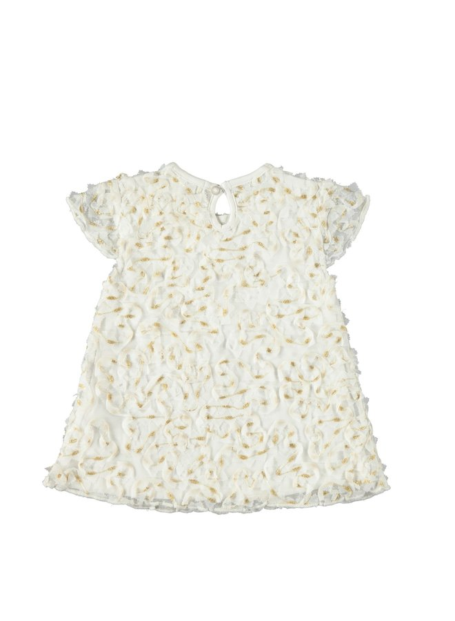 Dress Lacey Flowers White