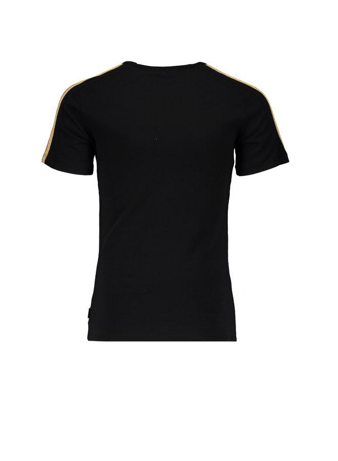 Kanoux  T-shirt Ca Va Jet Black