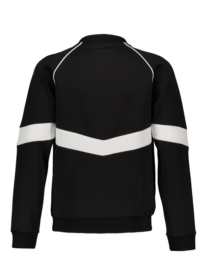 Arno full zip Tech Sweat Jacket Jet Black