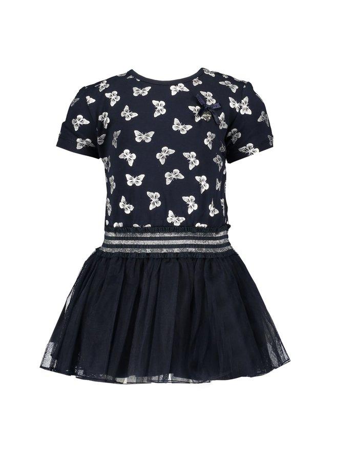 Jurk Petticoat Butterflies  Navy