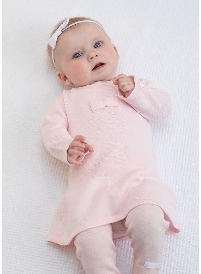 Jurkje First Knit  Roze