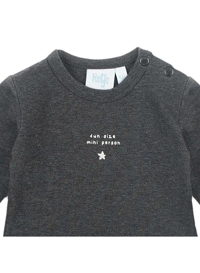 Mini Person Shirt Fun Size Antraciet