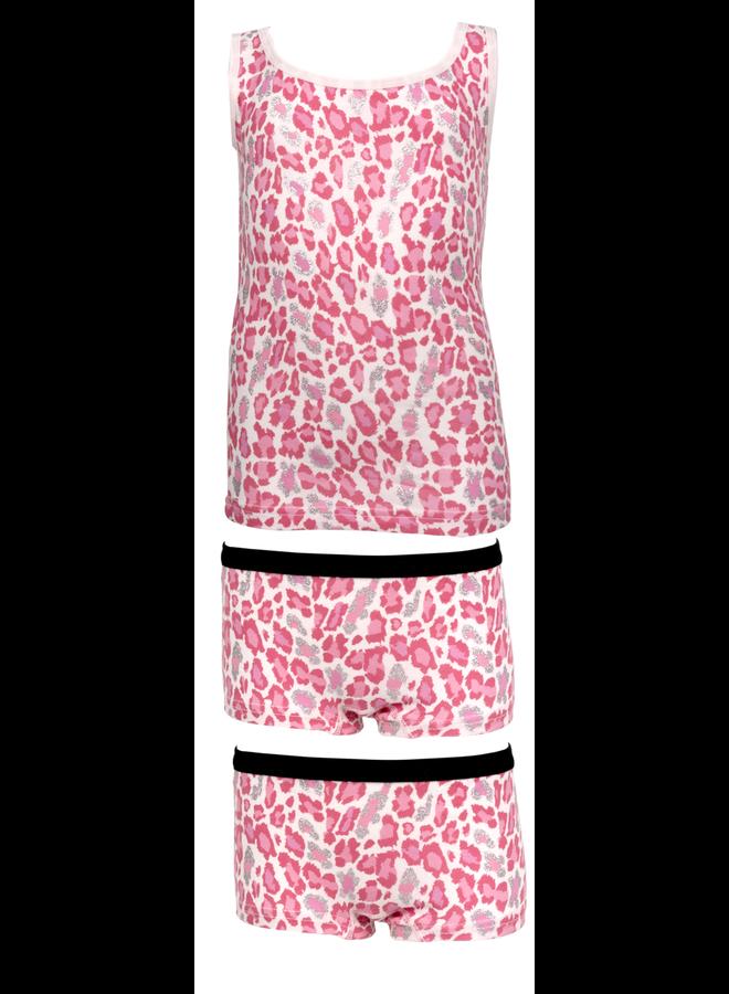 Hemd met 2 Boxers Roze