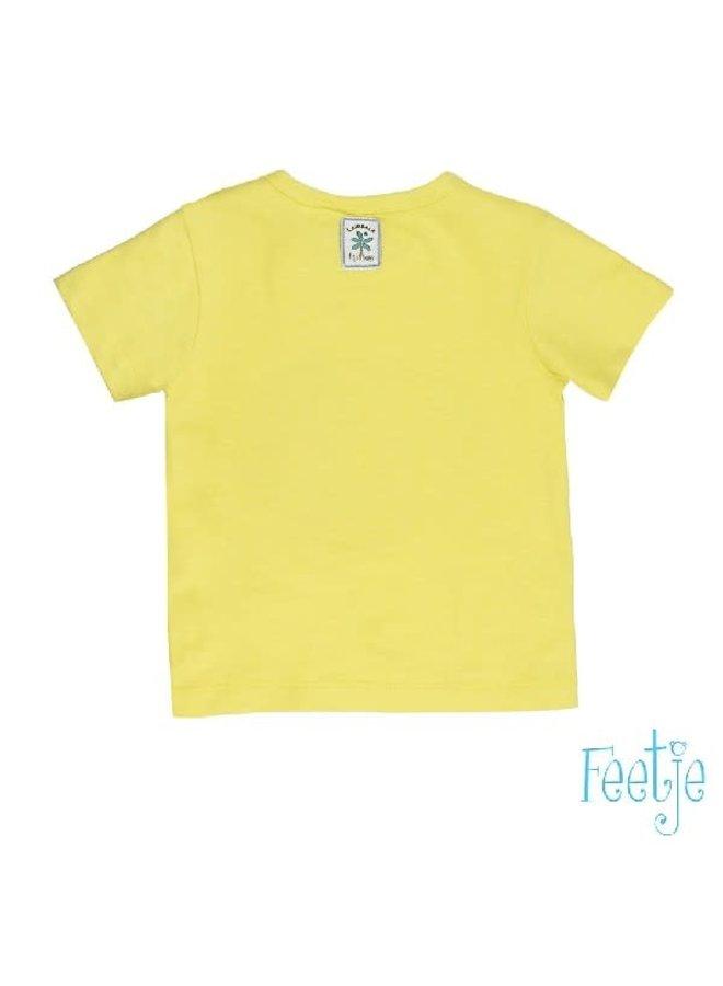 Mr. Laidback T-Shirt Take a break Yellow
