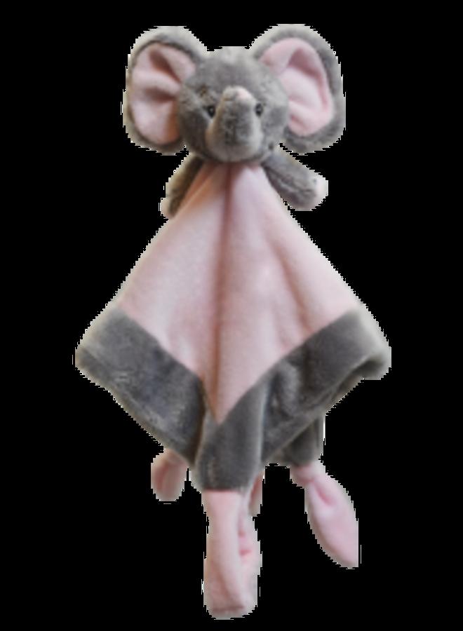 Knuffeldoek Olifantje Roze