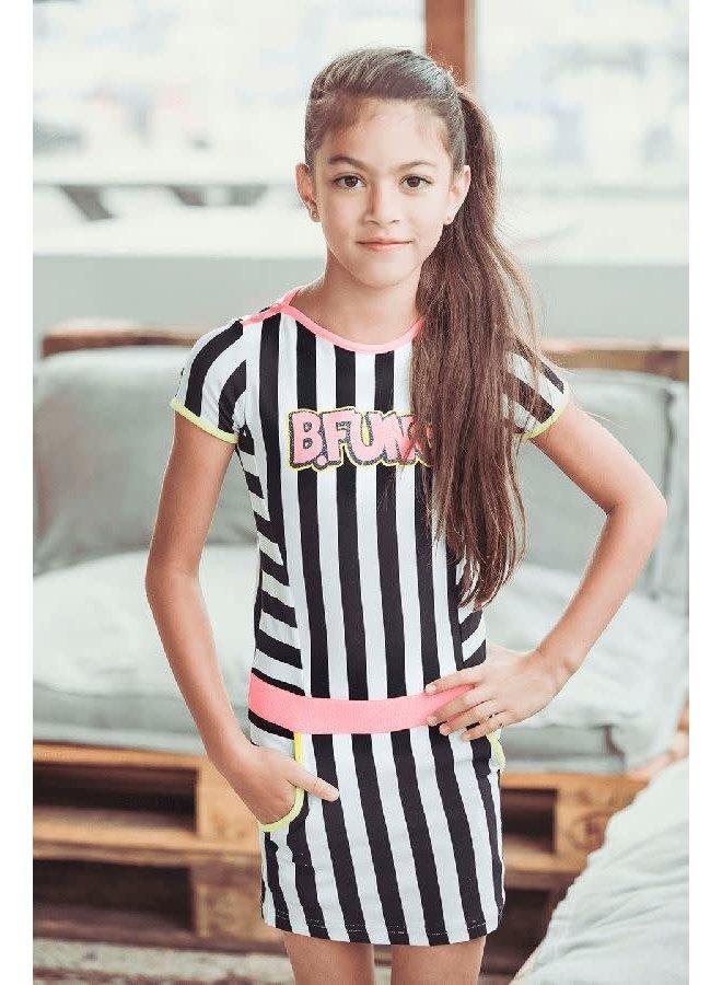 Jurk Stripe Black