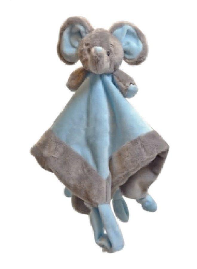 Knuffeldoek Olifantje Blauw
