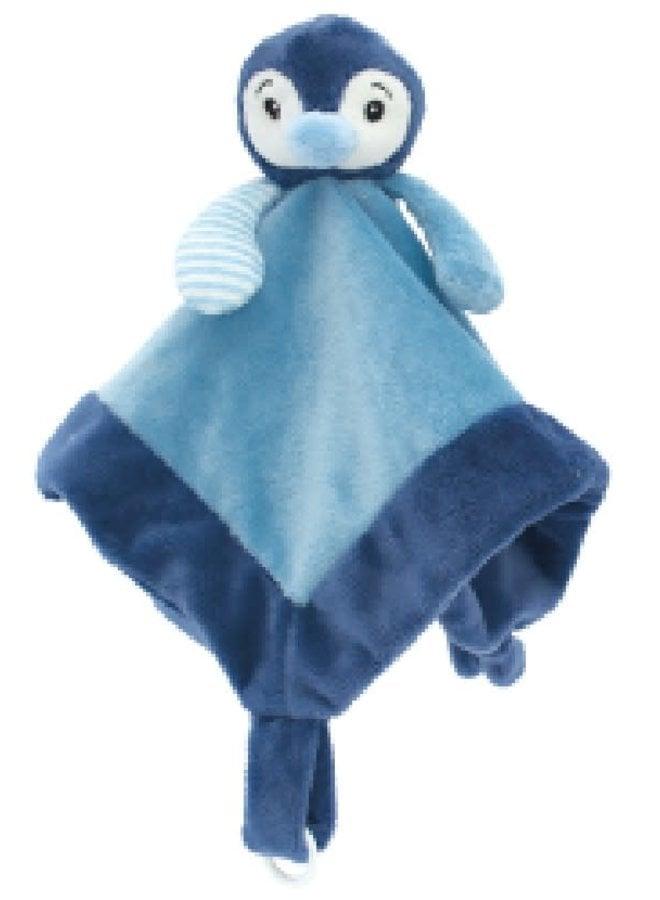 Knuffeldoek Pinguin Blauw
