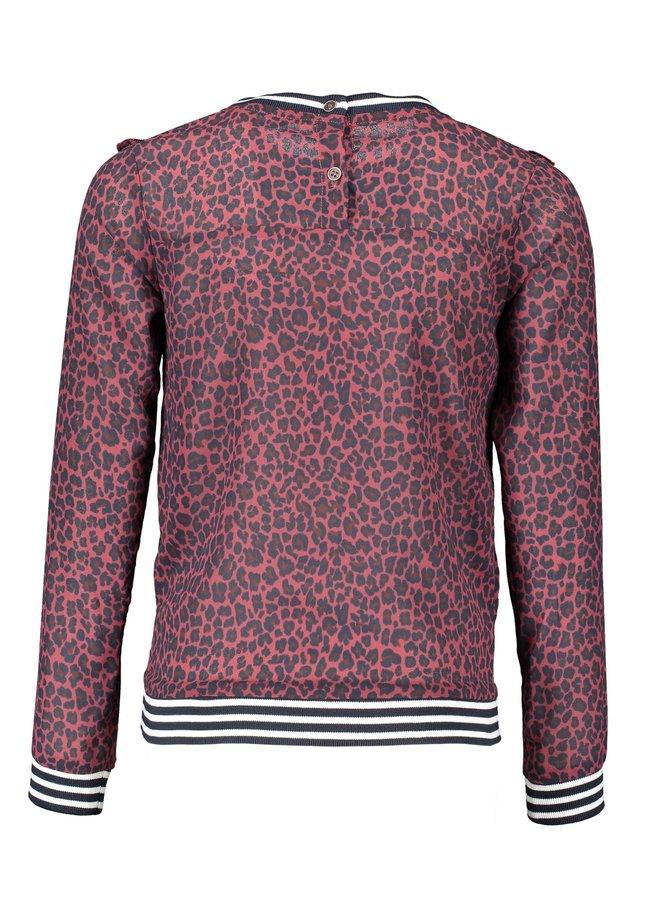 Kia Shirt animal Wine Red