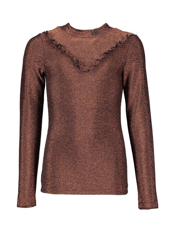 Kikit glitter Shirt Bronze