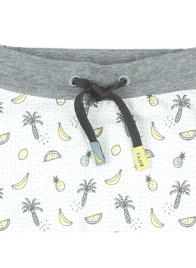 Go Bananas Broek AOP Wit