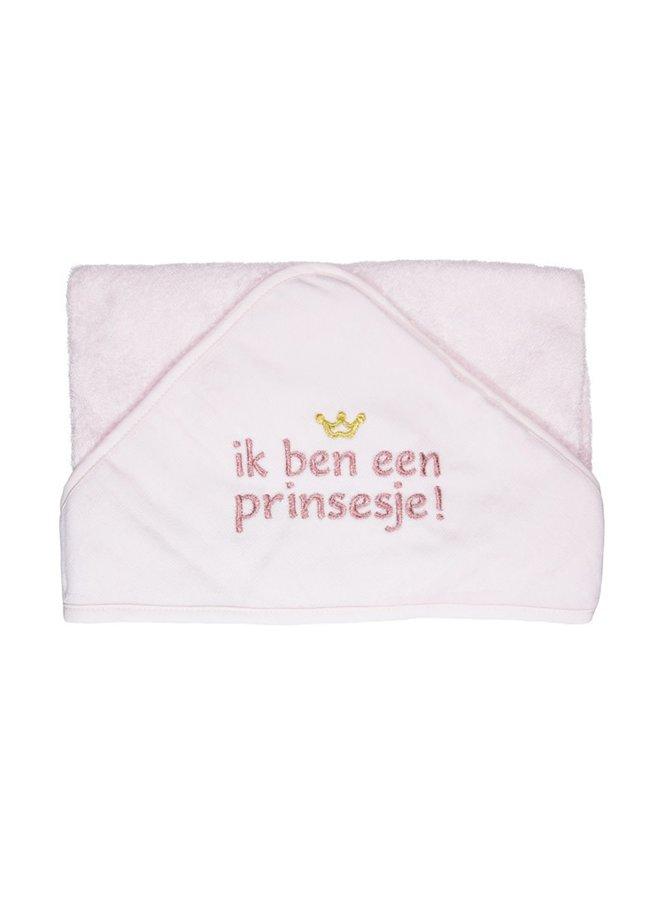 Badcape Ik ben een Prinsesje Roze