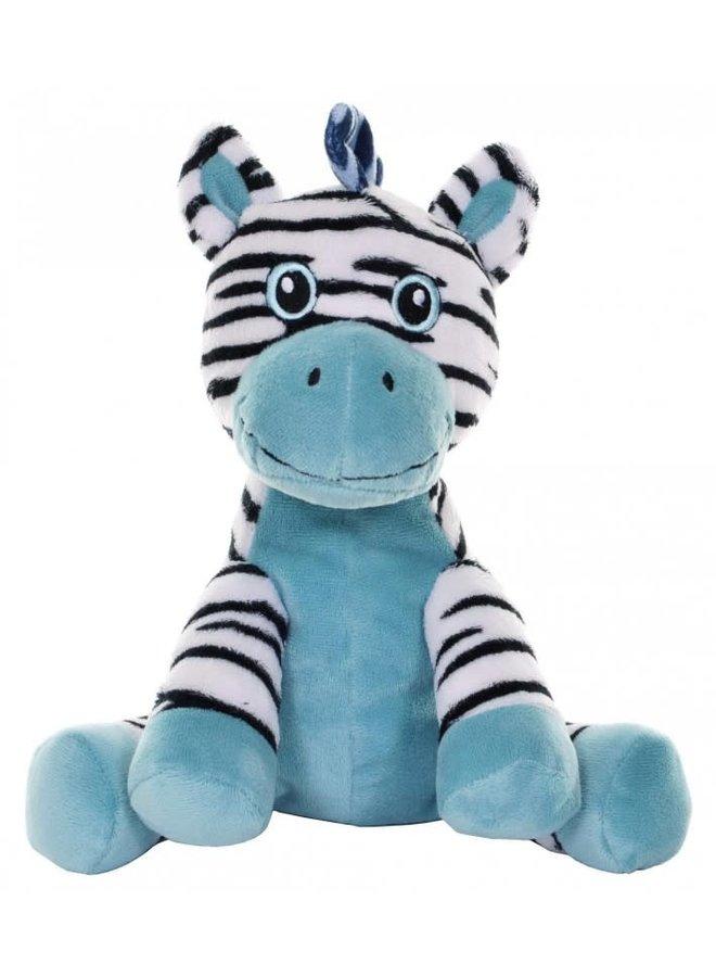 Knuffel Zebra blauw