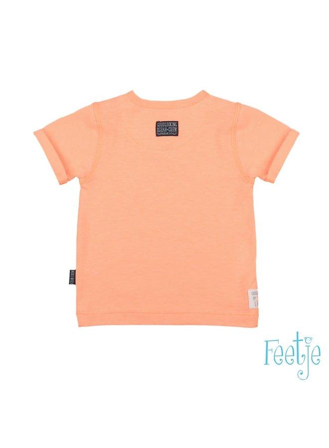 Mr. Good Looks Shirt Neon Oranje