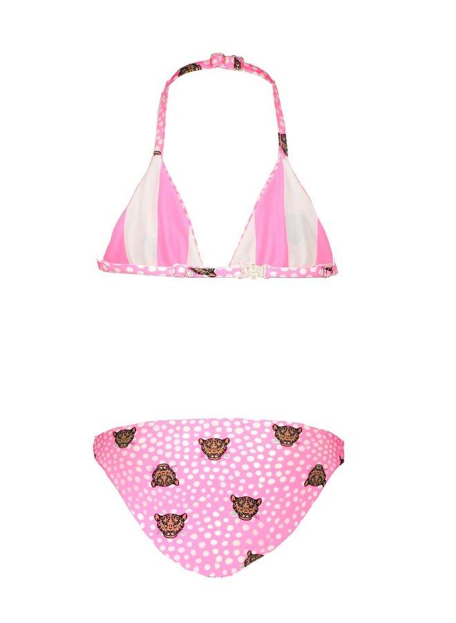Girls Triangle REVERSIBLE Bikini Tiger Dots