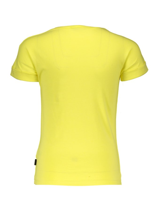 Kaël T-shirt with Tres Nobelle print Light Lemon
