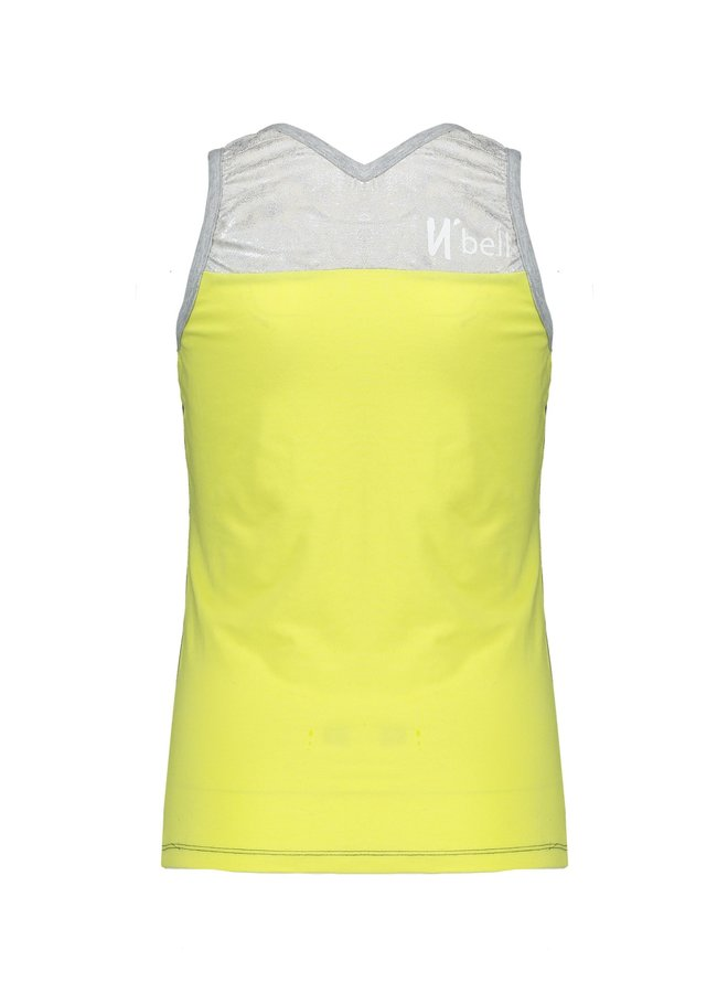 Kanit Twistable Singlet with V print Light Lemon