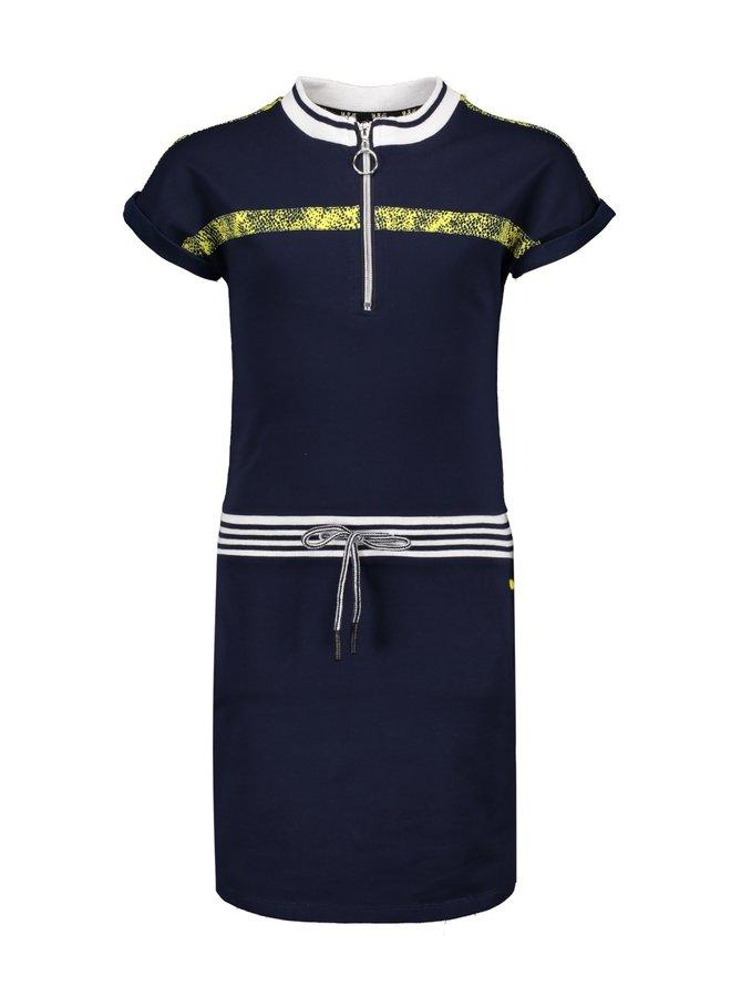 Mikela Sweat Dress with Zipper Navy