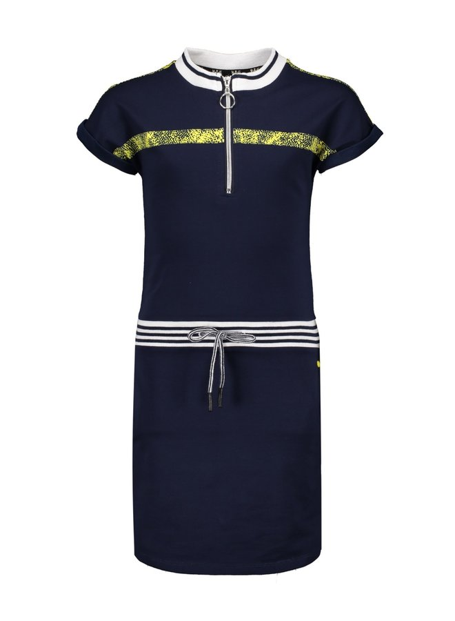 Mikela Sweat Dress with Zipper Navy Blazer