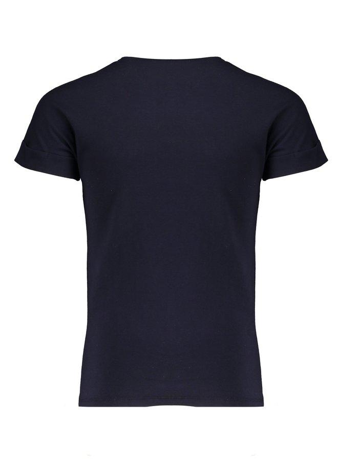 Kaël T-shirt with Tres Nobelle print Navy Blazer