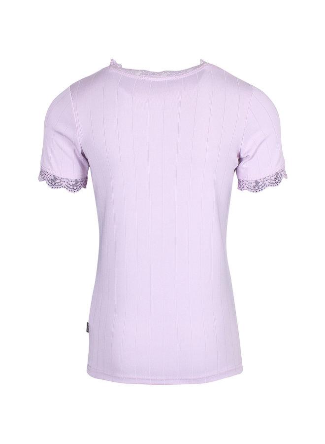 Shirt met Kant Lila