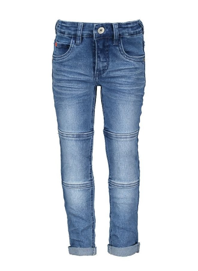 Jeans Skinny Blue with Double Knee Patches