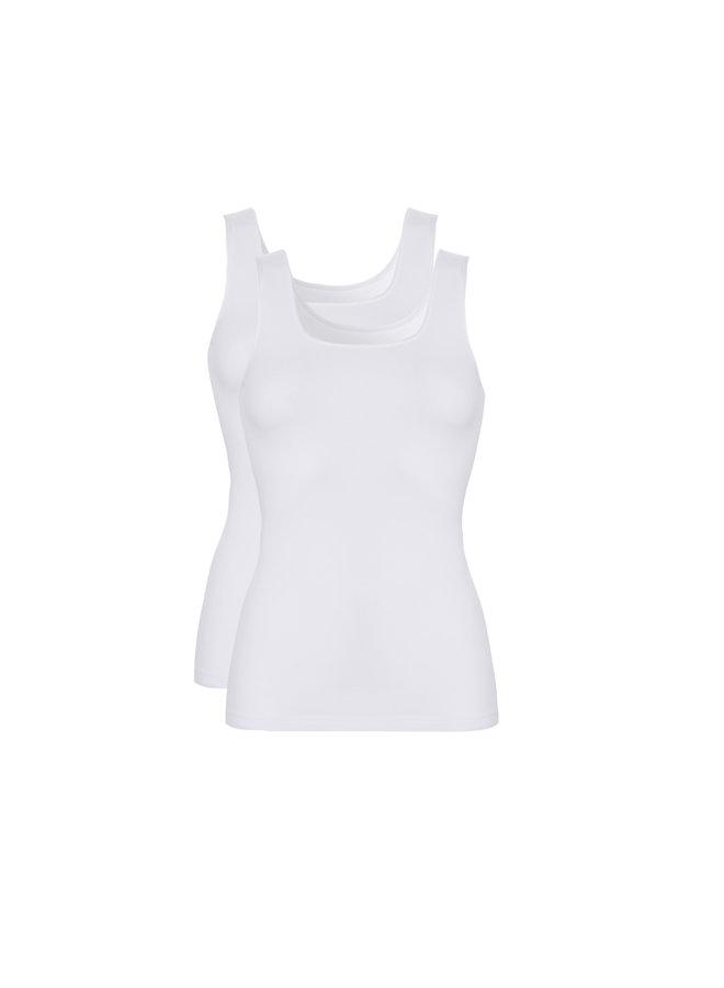Hemd met Brede Bandjes Wit