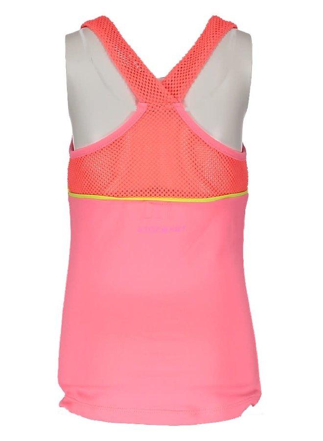Top Mouwloos Neon Pink